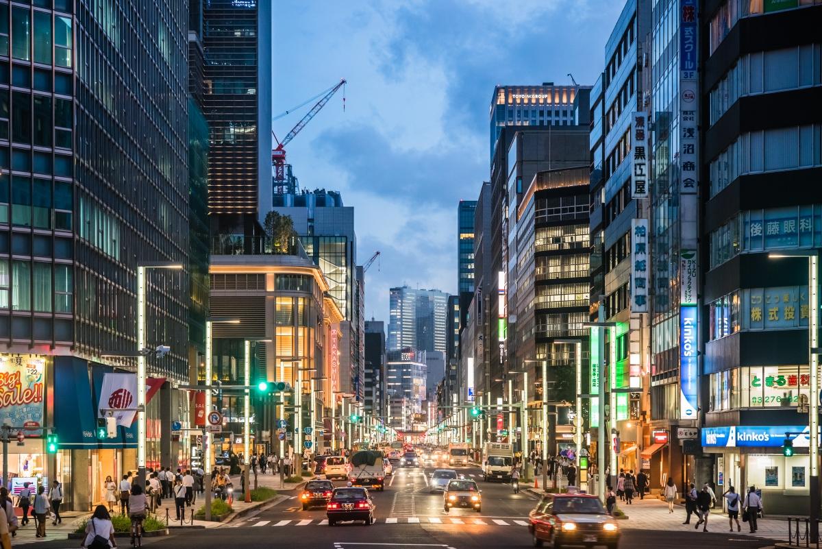 摄影志:蓝色时间的日本桥街景